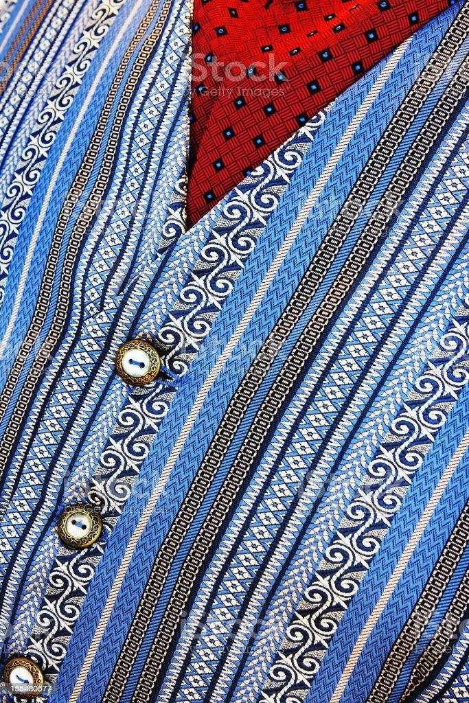Button Vest Ascot Clothing Fashion stock photo