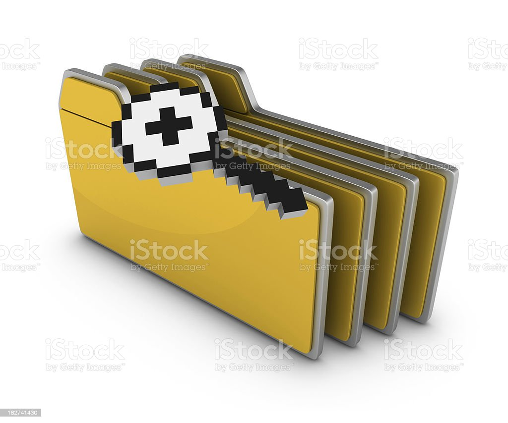 GO! Button with Cursor royalty-free stock photo