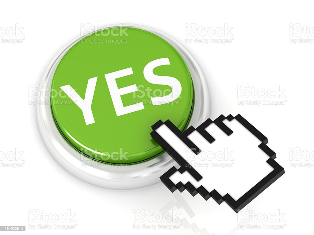 Button YES royalty-free stock photo