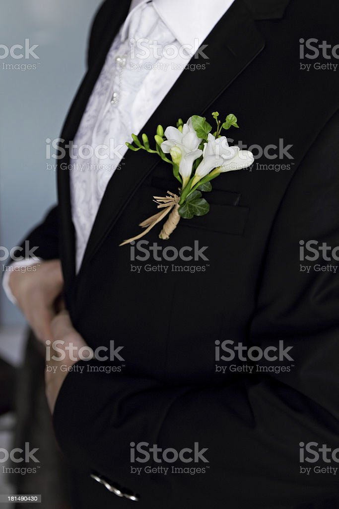 Buttonhole flower royalty-free stock photo