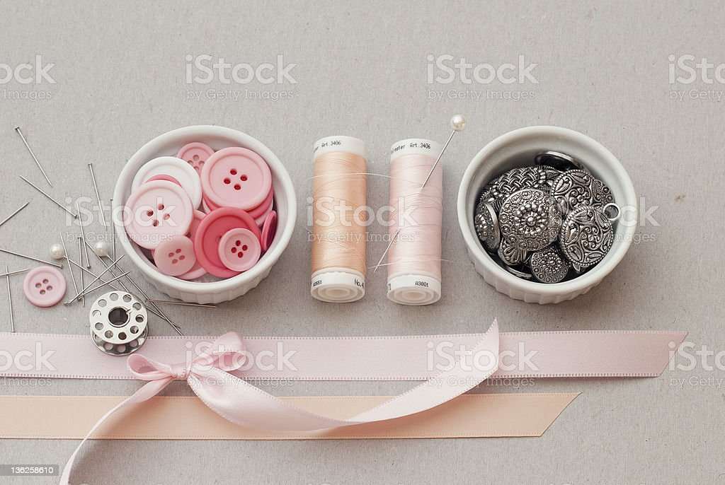 Buttons and Bows royalty-free stock photo