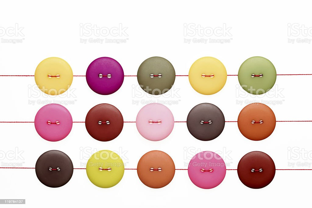 buttons and thread royalty-free stock photo