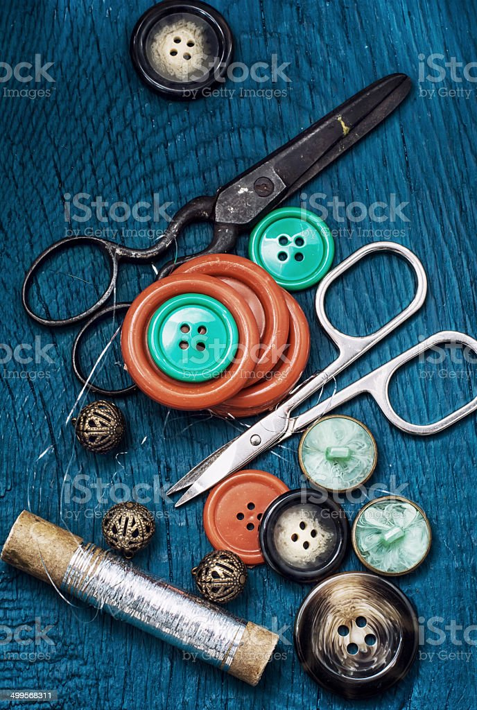 buttons and zipper royalty-free stock photo