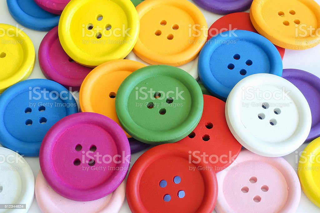 Buttons Bold Colors 3 stock photo