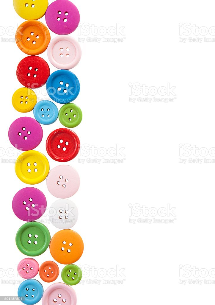 Buttons isolated Portrait Format High stock photo