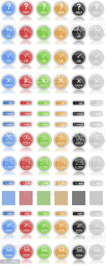 Buttons (icons) of Web 2.0 royalty-free stock photo