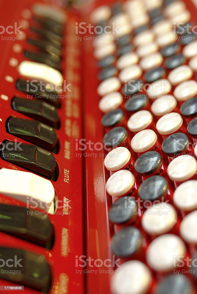buttons on an accordion stock photo