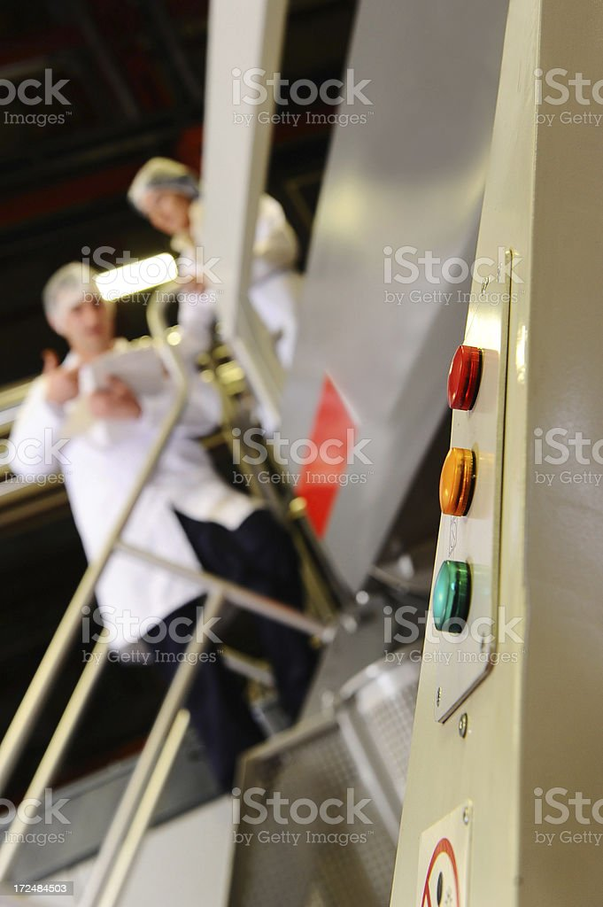 Buttons on industrial machine royalty-free stock photo