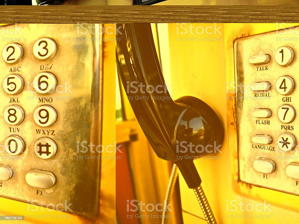 Buttons on Touch Tone Pay Phone royalty-free stock photo