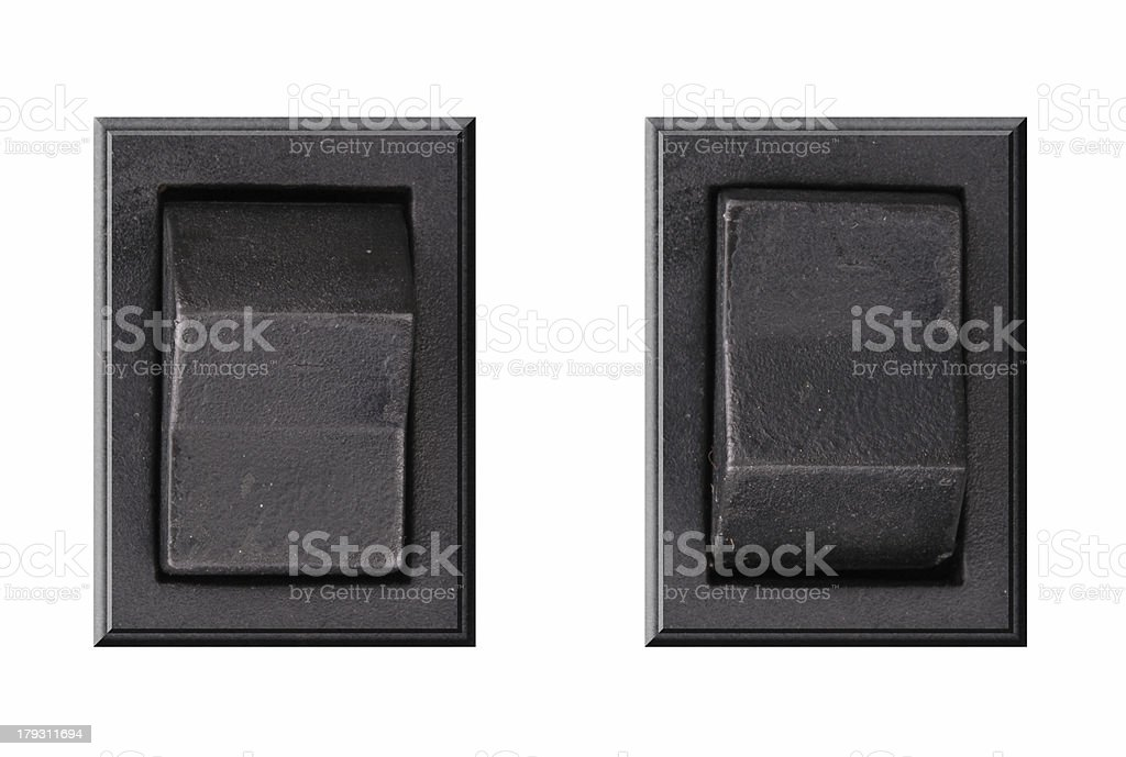 Buttons on-off royalty-free stock photo