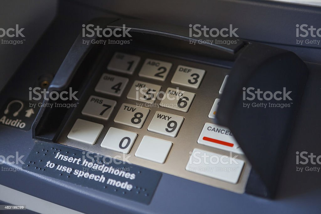 ATM buttons royalty-free stock photo