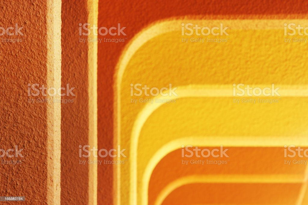Buttress Column Stucco Ceiling Arch stock photo