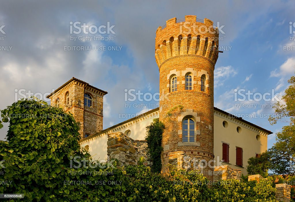 Buttrio Castle at Sunset stock photo