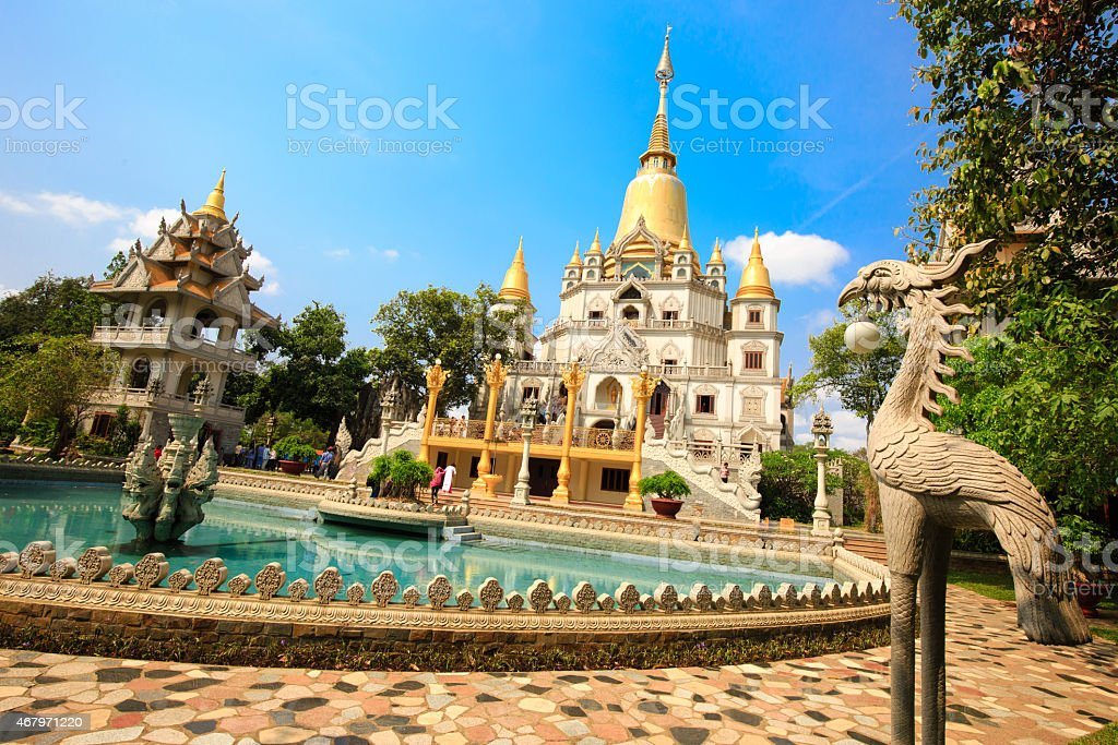 Buu Long pagoda at Ho Chi Minh City, Vietnam stock photo