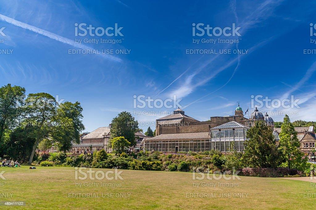 Buxton Gardens & Opera House stock photo