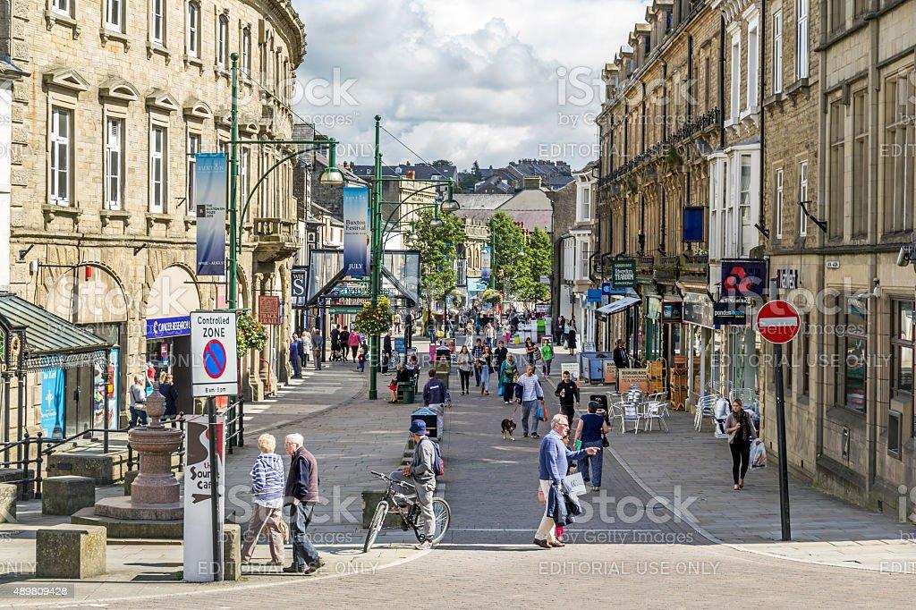 Buxton Town Center stock photo