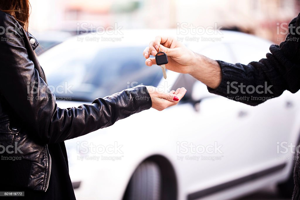 Buy a car stock photo
