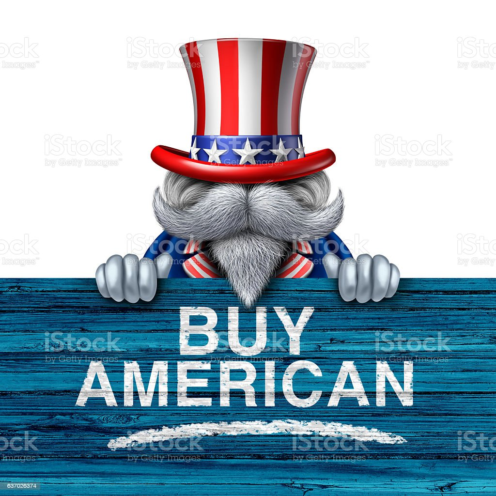 Buy American Business Concept stock photo