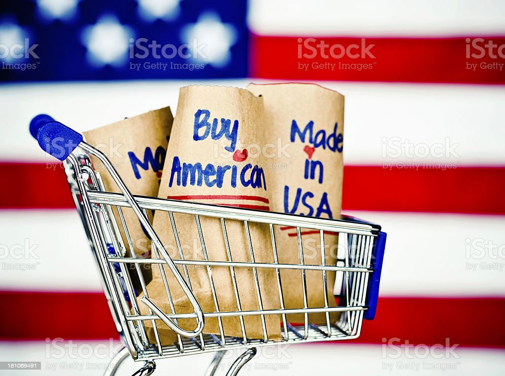 Buy American Made Goods royalty-free stock photo