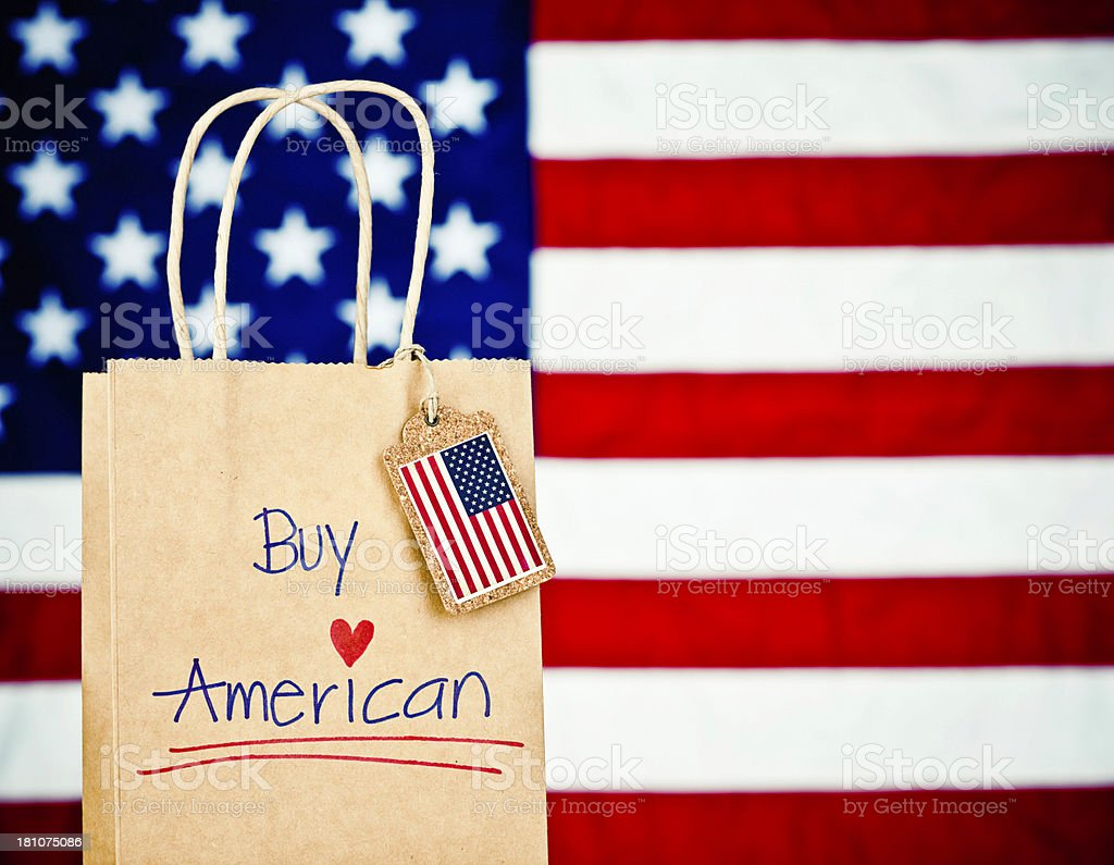 Buy American Made Goods stock photo