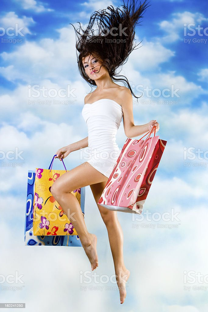 Buy & fly royalty-free stock photo