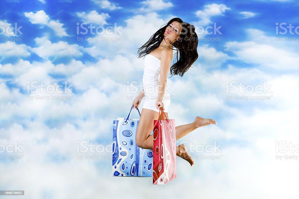 Buy & fly royalty-free stock photo