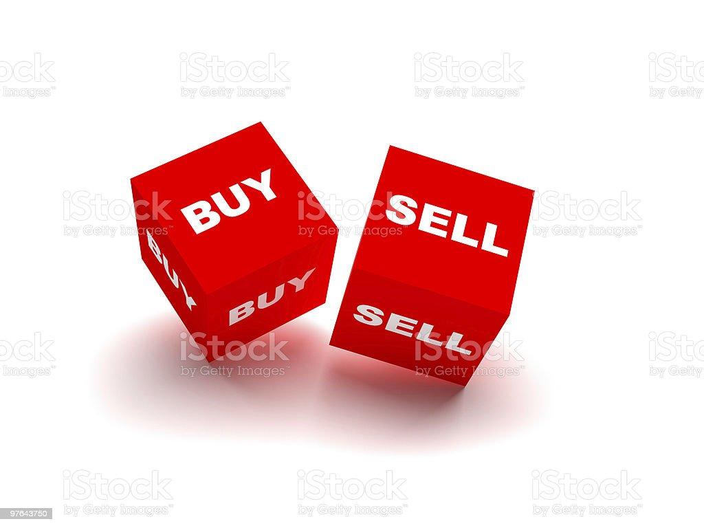 Buy and Sell Blocks. Financial Trade royalty-free stock photo
