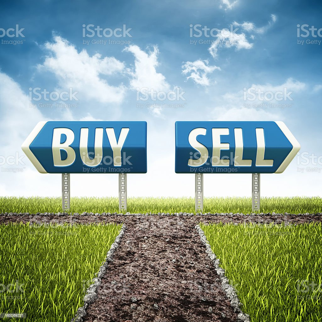 buy and sell crossroad royalty-free stock photo