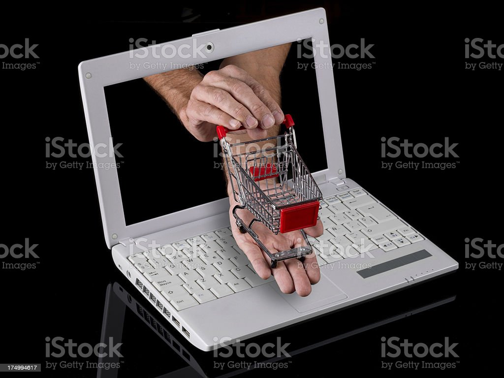 Buy and sell online royalty-free stock photo