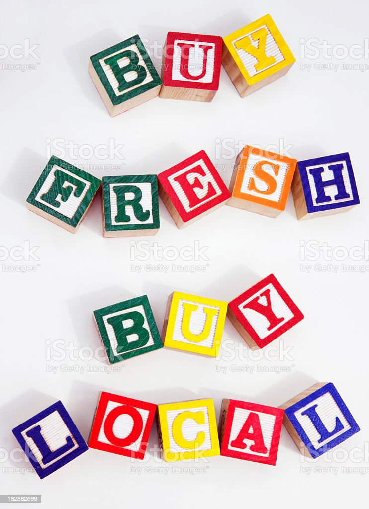 Buy Fresh and Local royalty-free stock photo