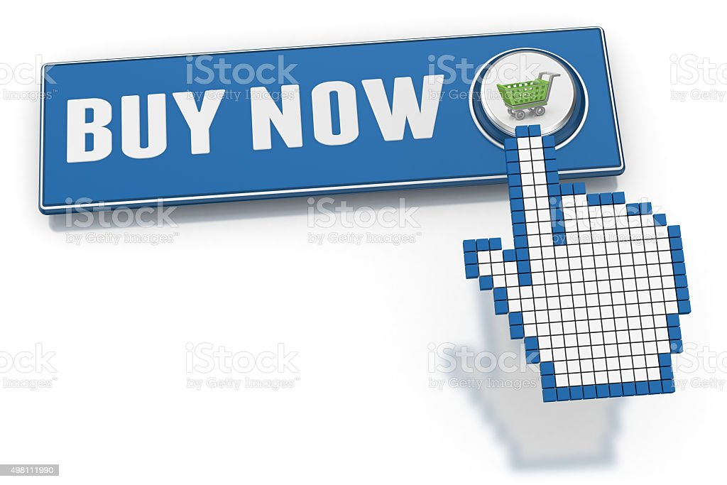 Buy Now - Button stock photo
