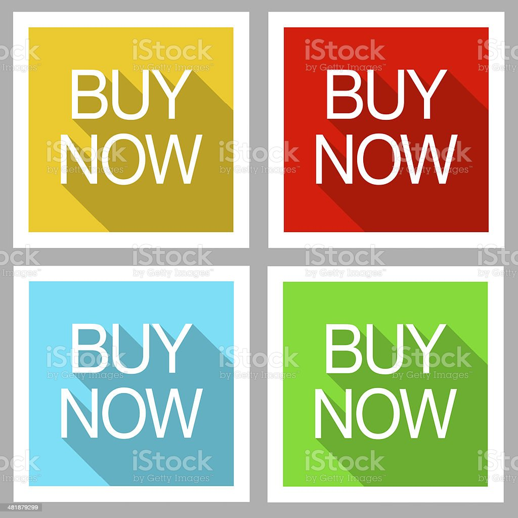 Buy now flat modern icons stock photo