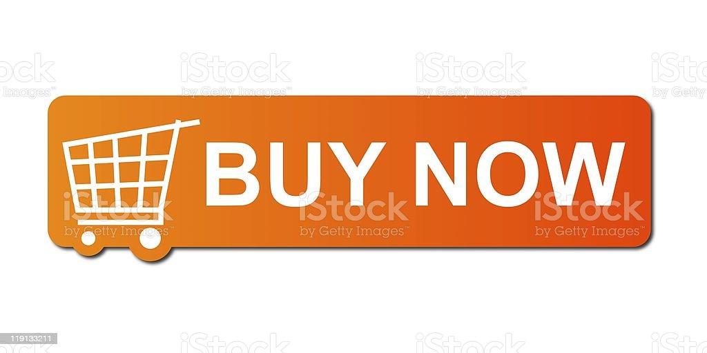 Buy Now Orange royalty-free stock photo