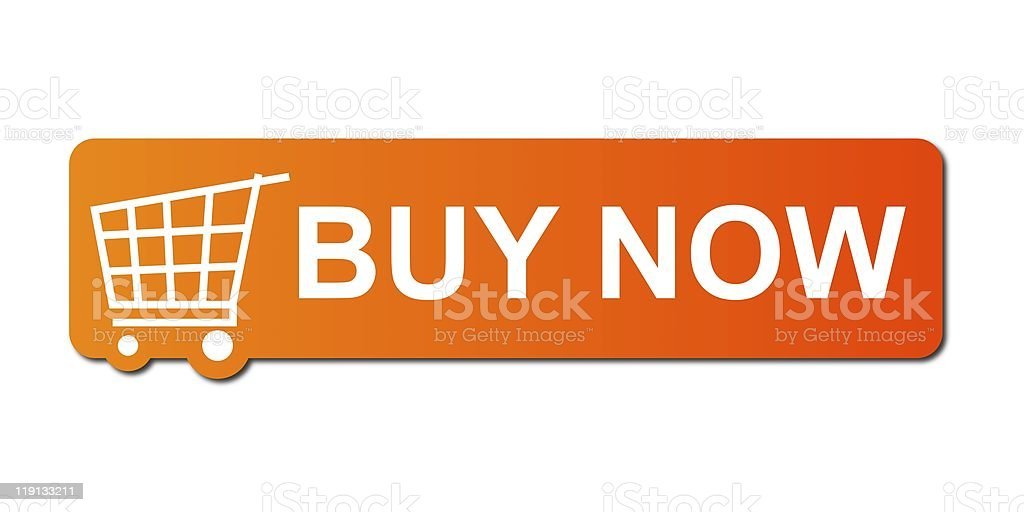 Buy Now Orange stock photo