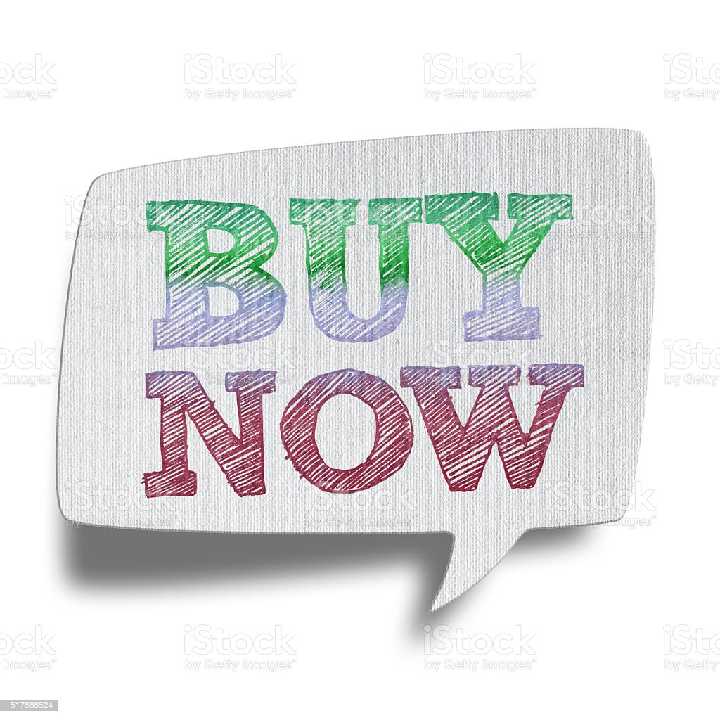 Buy Now- Speech Bubbles (Clipping Path) stock photo