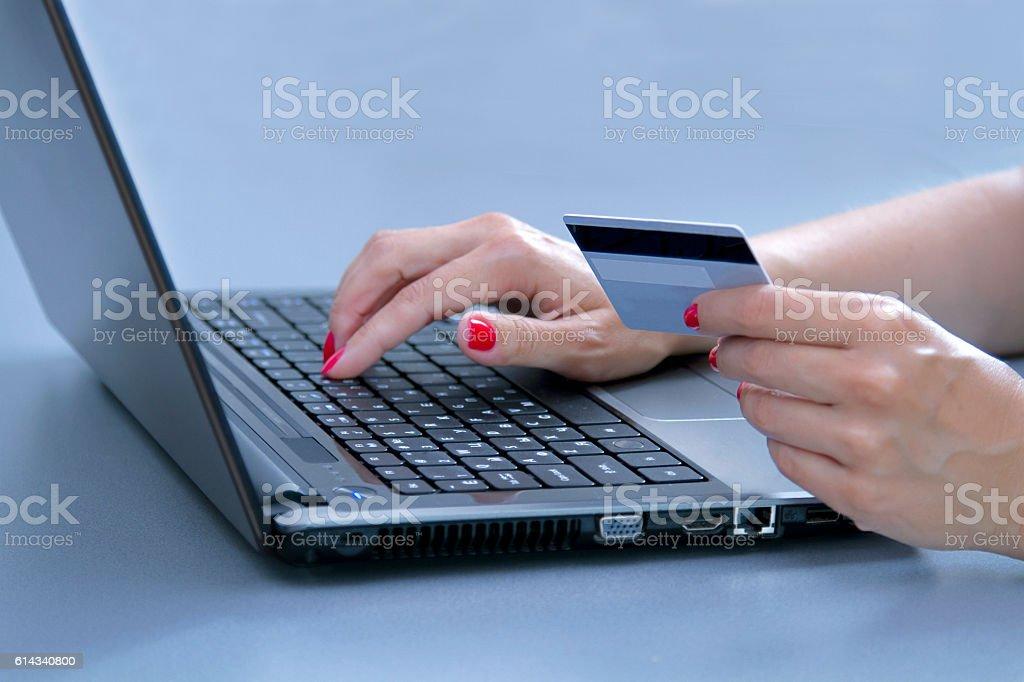Buy online stock photo