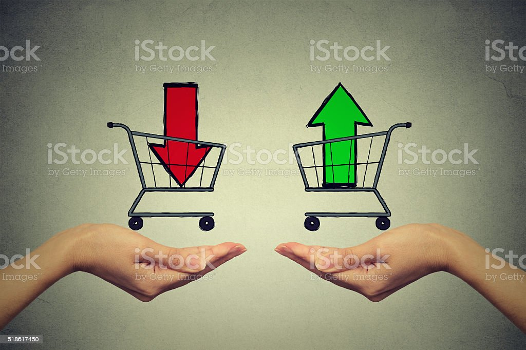 Buy or cell concept. Stock market trading. stock photo