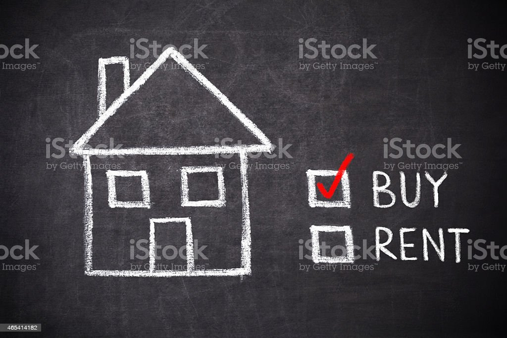 buy or rent house stock photo