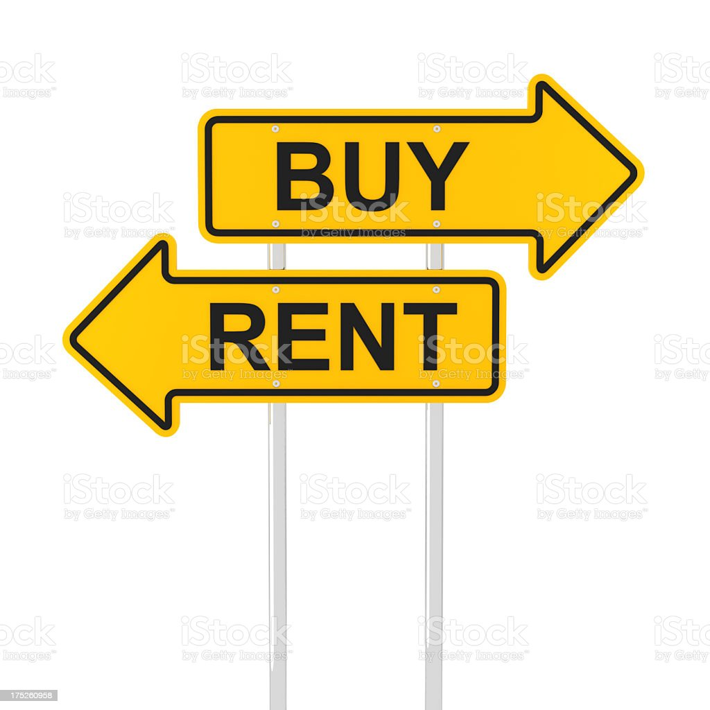 Buy or rent? royalty-free stock photo