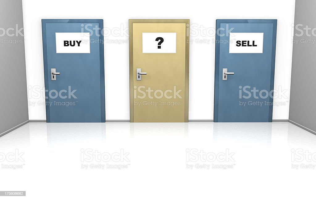 buy or sell, choose which way royalty-free stock photo