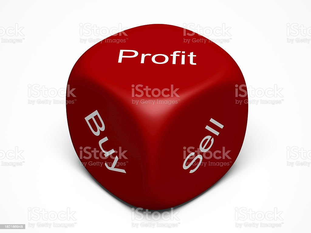 Buy, Sell, Profit royalty-free stock photo