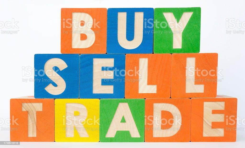 Buy Sell Trade royalty-free stock photo