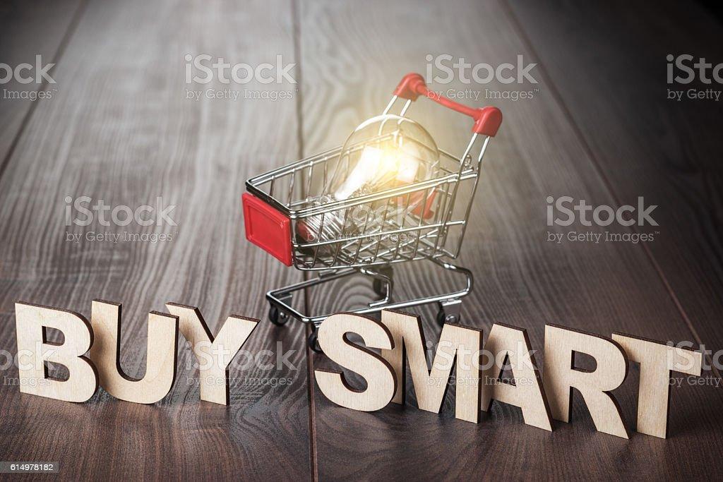 buy smart concept stock photo
