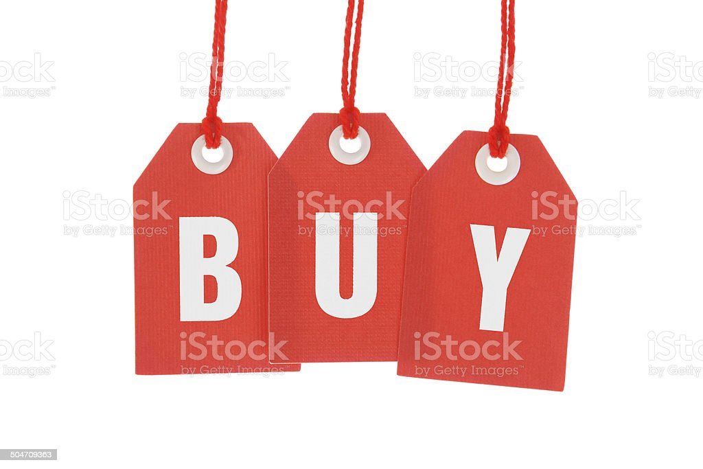 Buy - Stock Image of Isolated Red Hanging Tags royalty-free stock photo