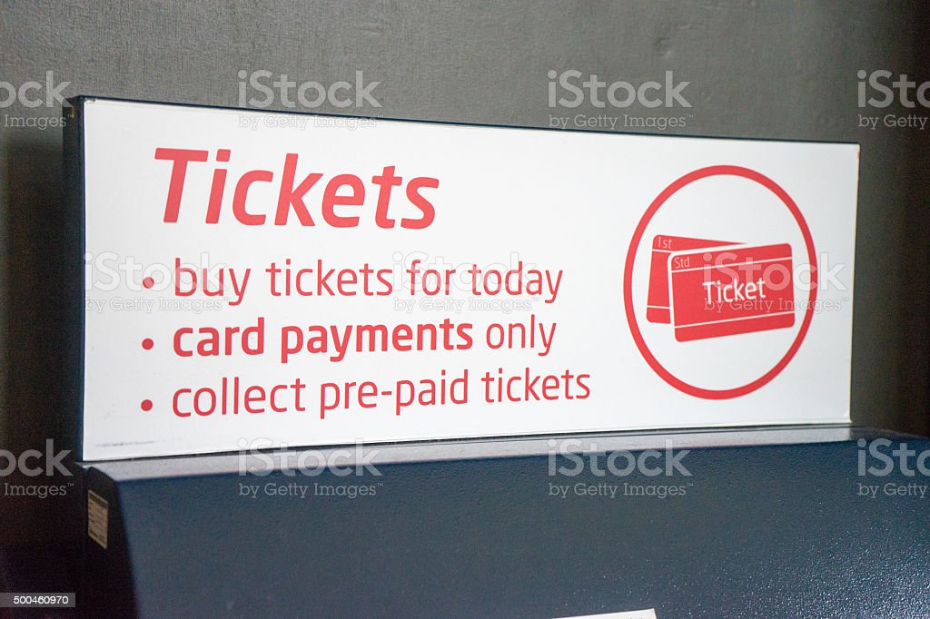 Buy tickets sign stock photo