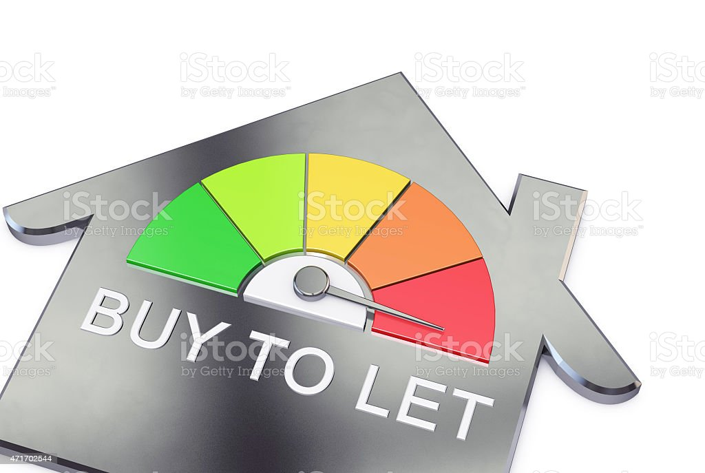 buy to let in the red stock photo