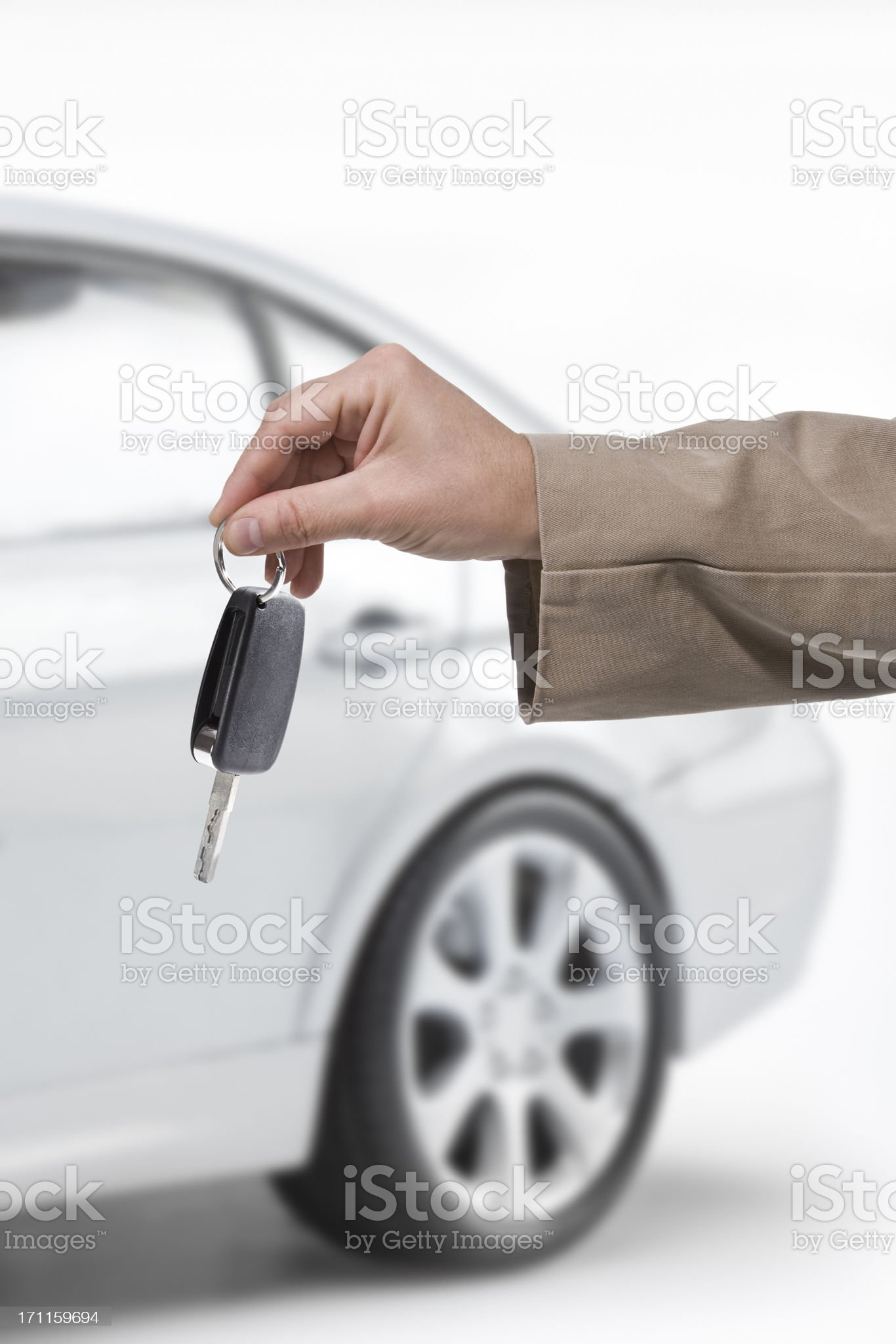 Buying a car royalty-free stock photo