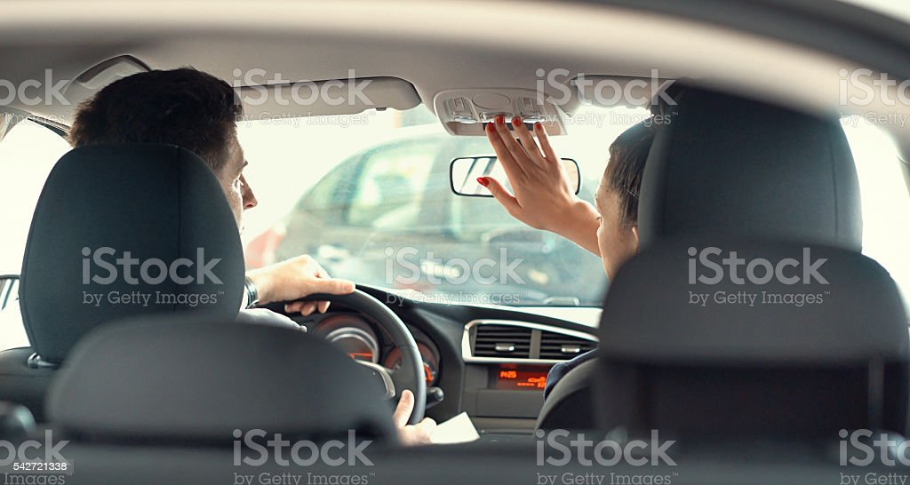 Buying a car. stock photo
