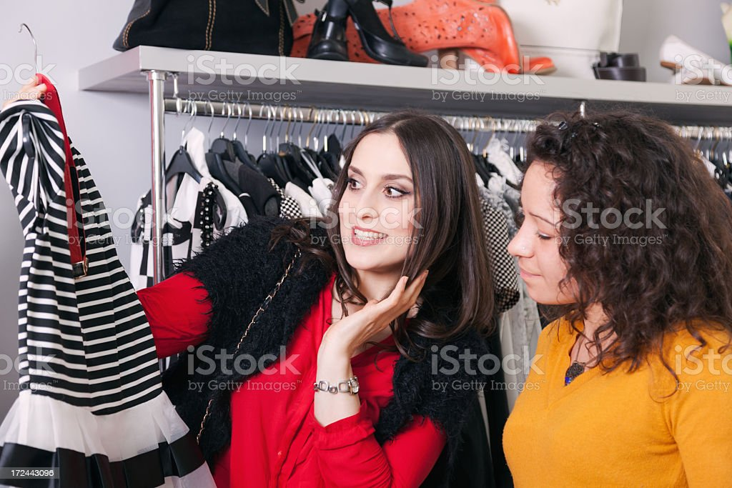 Buying a dress royalty-free stock photo