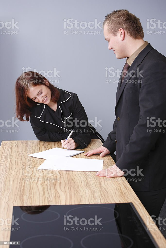 Buying a furniture royalty-free stock photo